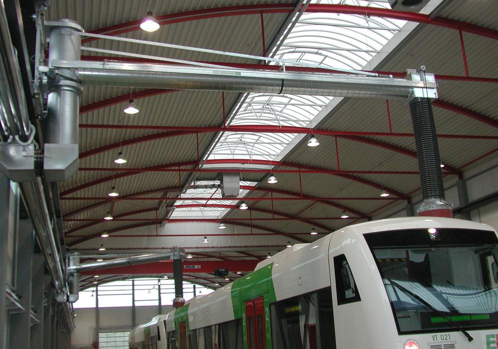 Mobile Schwenkarme für Abgasabsaugung in Erfurt