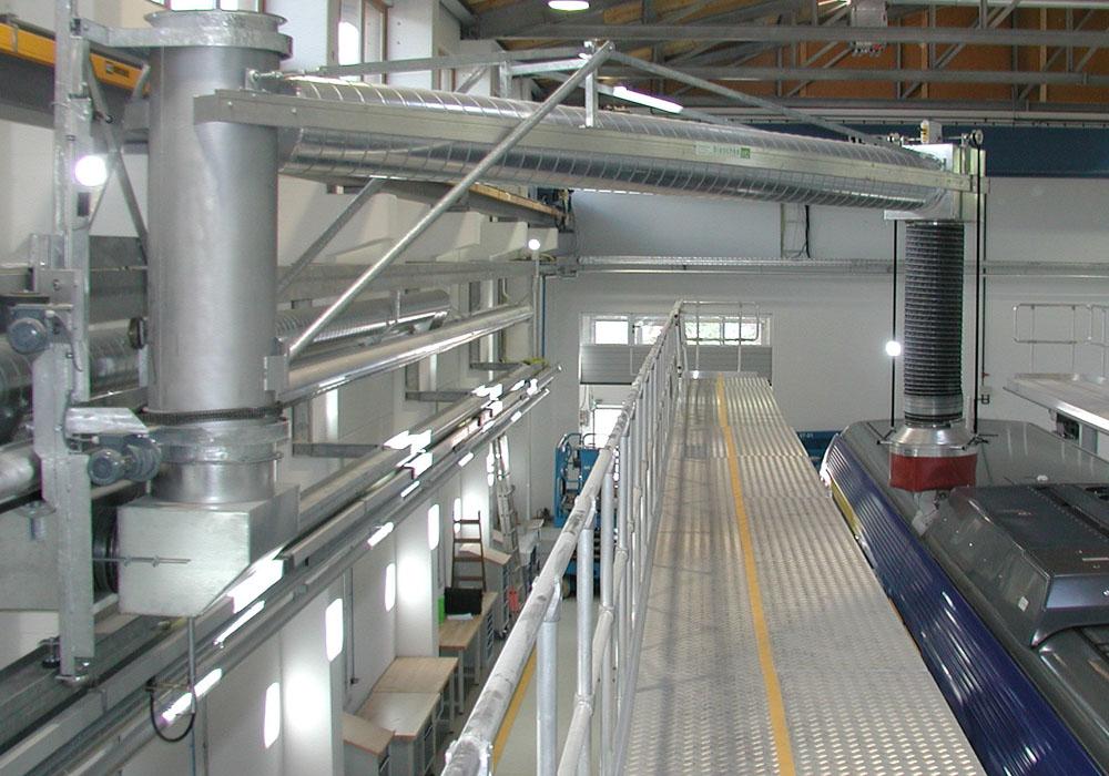 Effektive Abgasabsaugsysteme für Bahnen und Schienenfahrzeuge arm