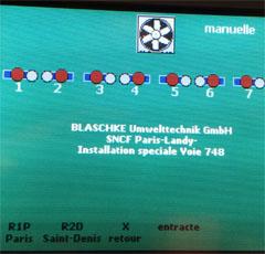 Abgasabsauganlage Bahn Steuerung Lösung