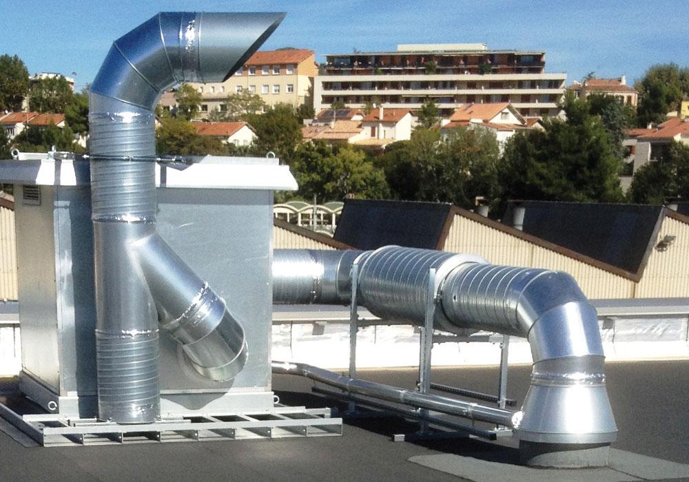 Ventilatoren für Absauganlagen Außenbereich