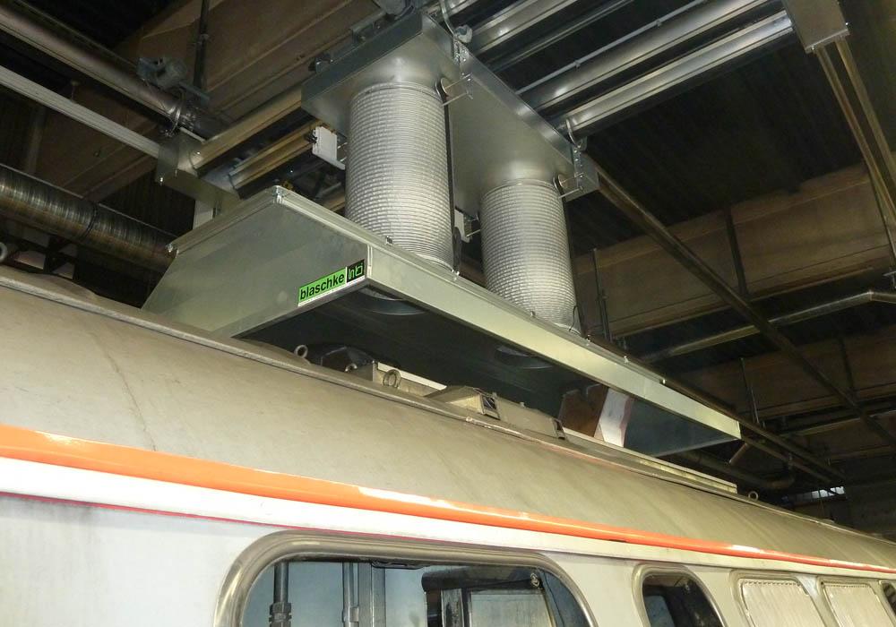 Dieselabsaugbrücke für Züge