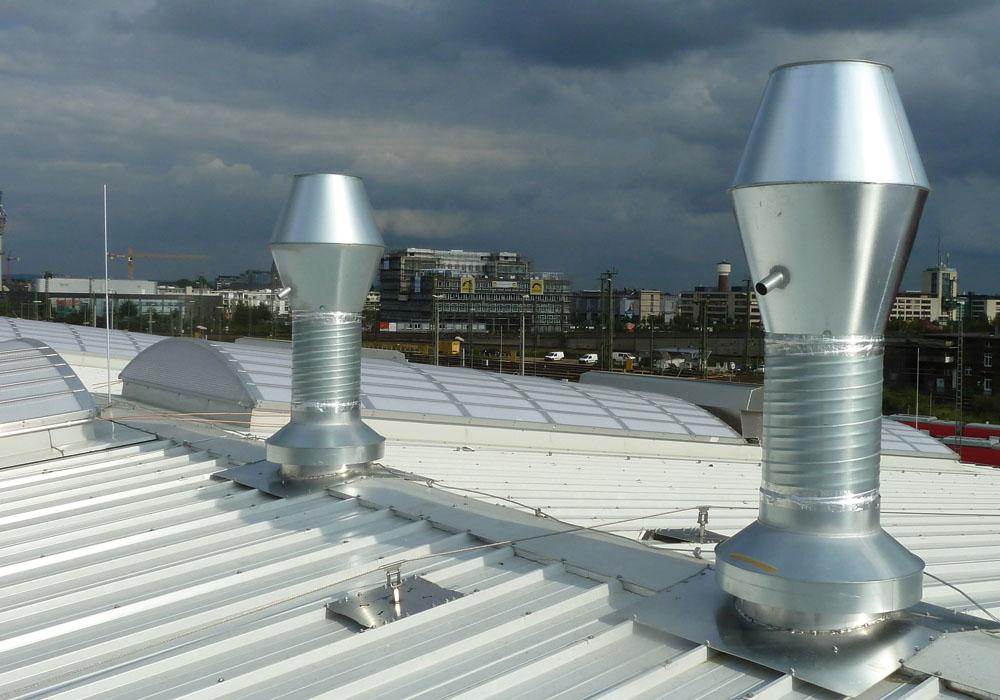 Ventilatoren und Schallschutz für Abgasabsaugnalgen von Bahnen
