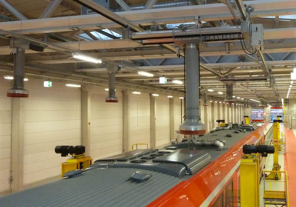 Dieselabsaugbrücken für Schienenfahrzeuge