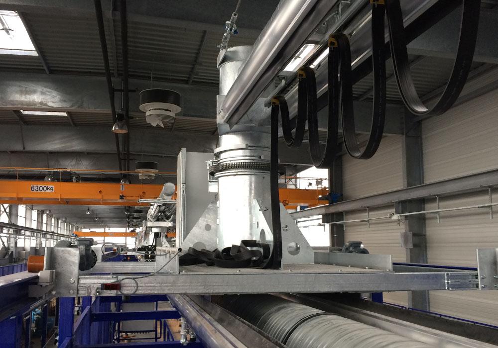 Abgasabsaugsystem RailCombi für Kombidepots