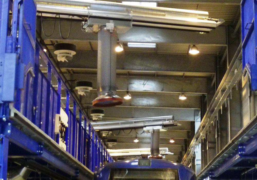 Abgasabsaugsystem RailCombi für Bahnen