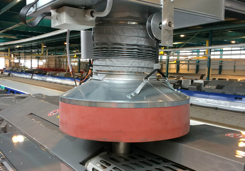 Absaughaube des RailSwivel Arms