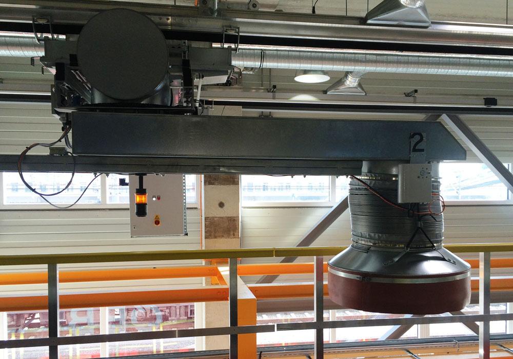 Abgasabsauganlage RailTelescopic System