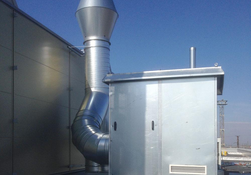 Leistungstarker Ventilator für Abgasabsauganlage