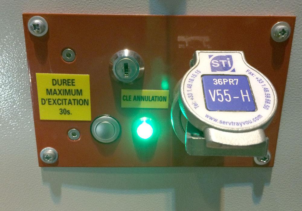 Sicherheitsystem einer Abgasabsauganlage